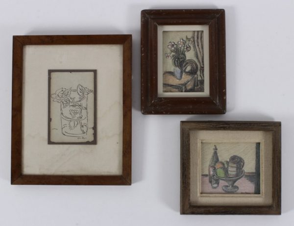 Ben Zion(1897-1987) 3 drawings on paper