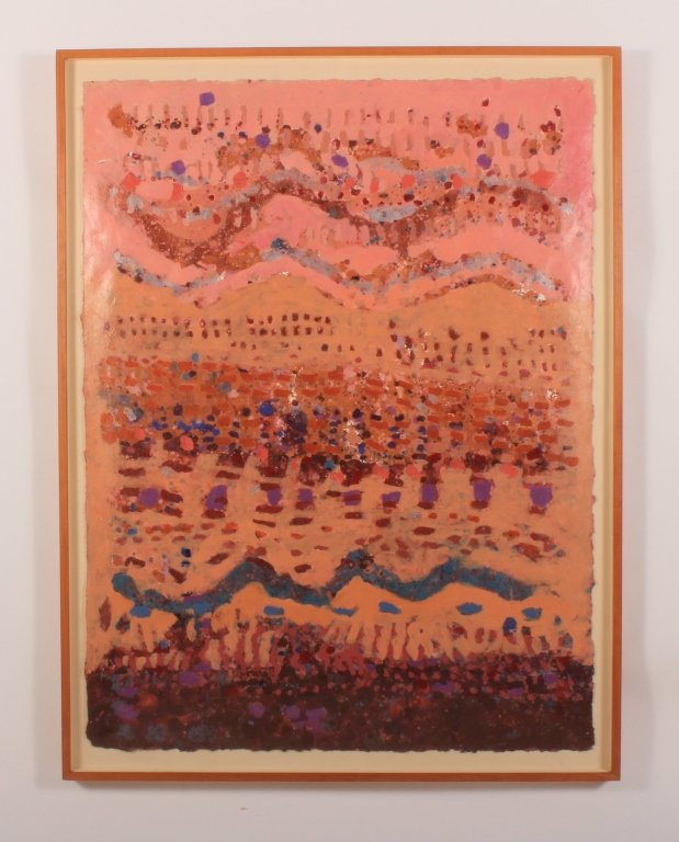 """Janell Wicht """"Nogal"""" 1986 acrylic/handmade paper"""