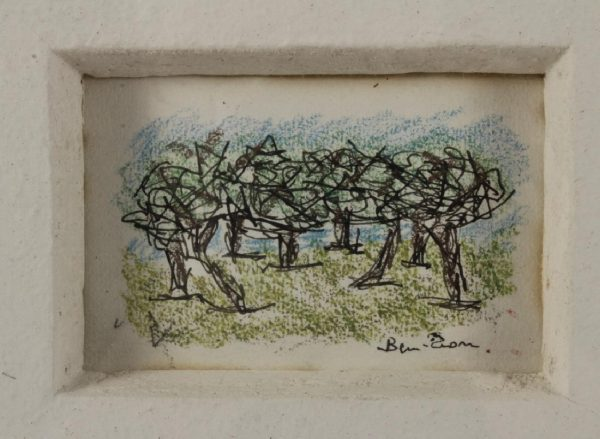 Ben Zion(1897-1987) Study of trees, drawing