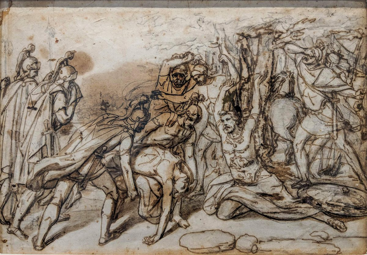 Italian,  18th C Drawing – End of Battle