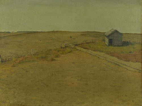 Donald Wynn - Untitled (open field and house)