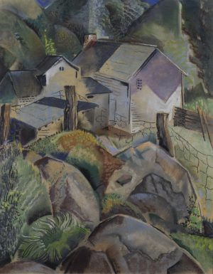 Will Henry Stevens - Untitled (houses and rocks)