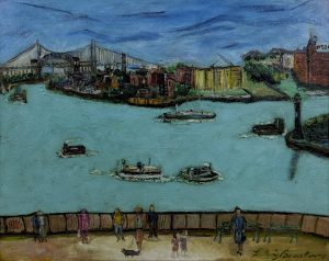 Ludwig Bemelmans - View from Carl Shurz Park