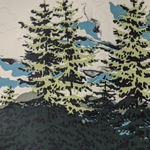 Neil Welliver - From Zeke's place, Maine Landscape #67