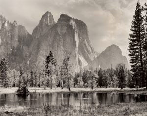 Ansel Adams - Cathedral Spires and Rocks, Late Afternoon, Yosemite National Park, California (1992)