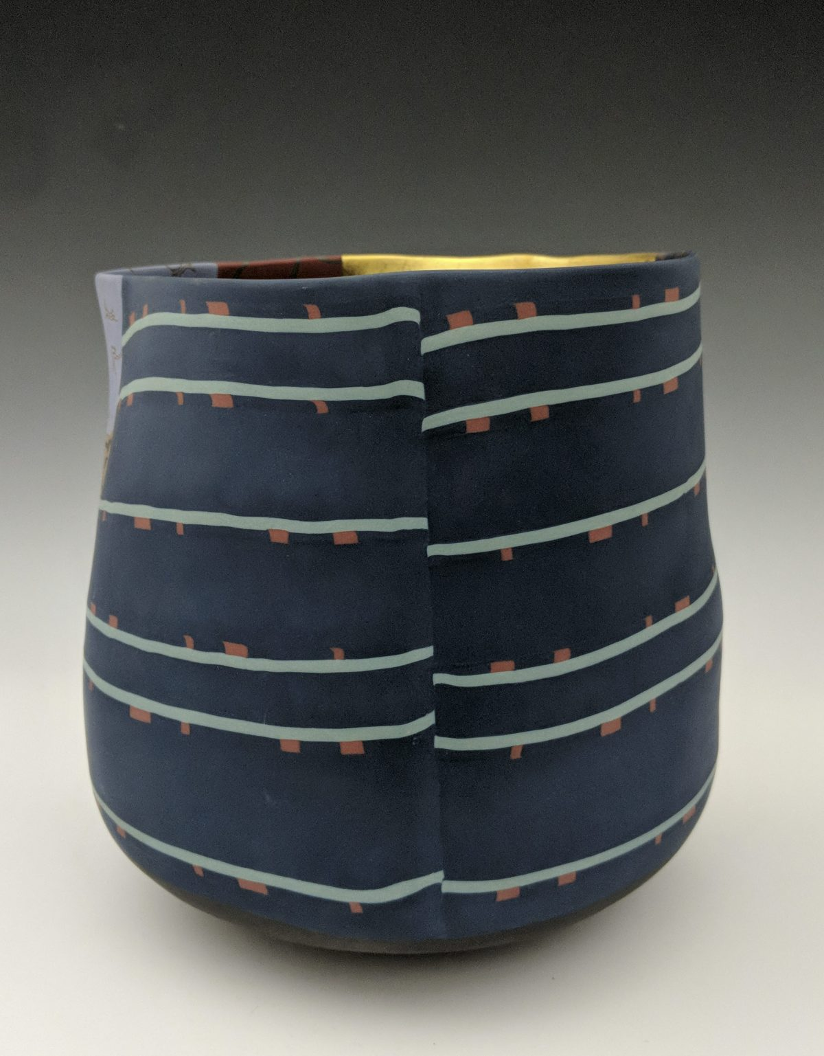 Thomas Hoadley - colorful nerikomi vase