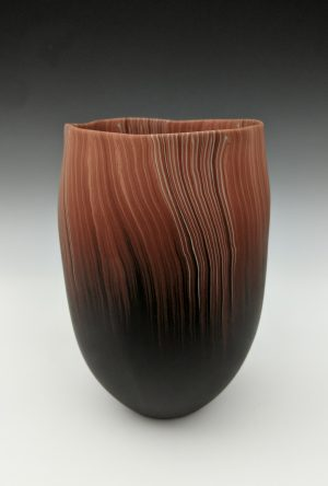 Thomas Hoadley - orange and black vase