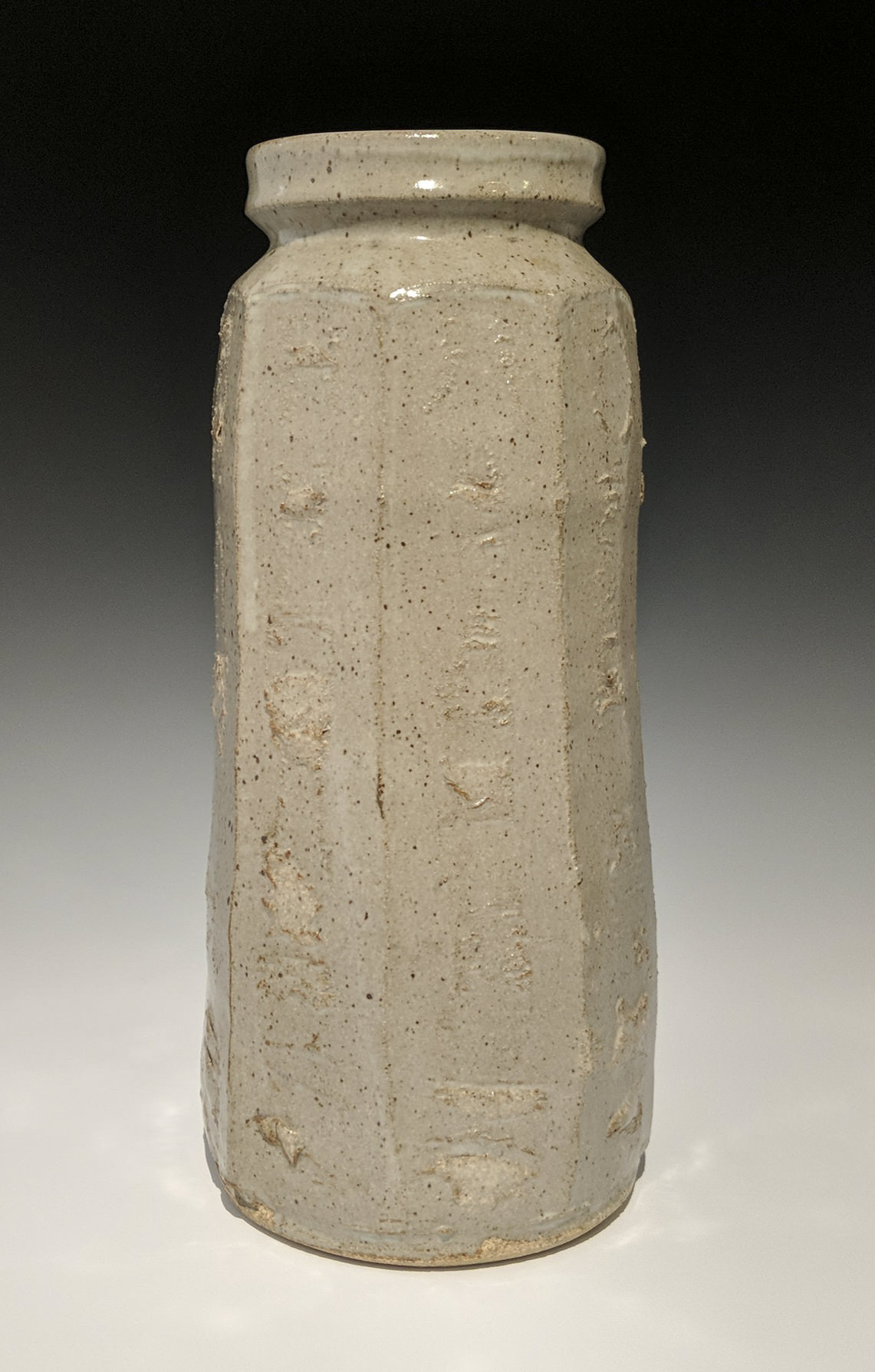 Warren MacKenzie - tall faceted vase