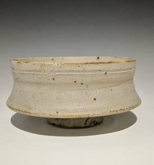 Warren MacKenzie - drop rim bowl with barbed wire pattern