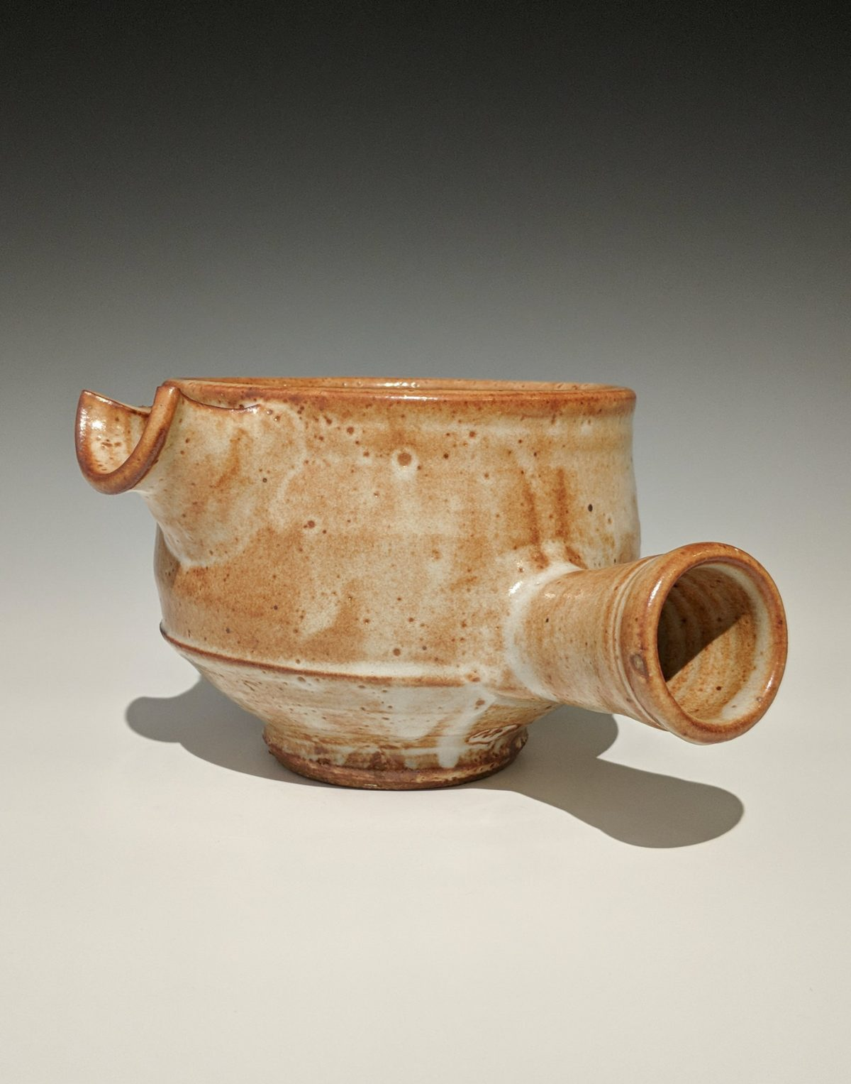 Warren MacKenzie - spouted vessel with handle