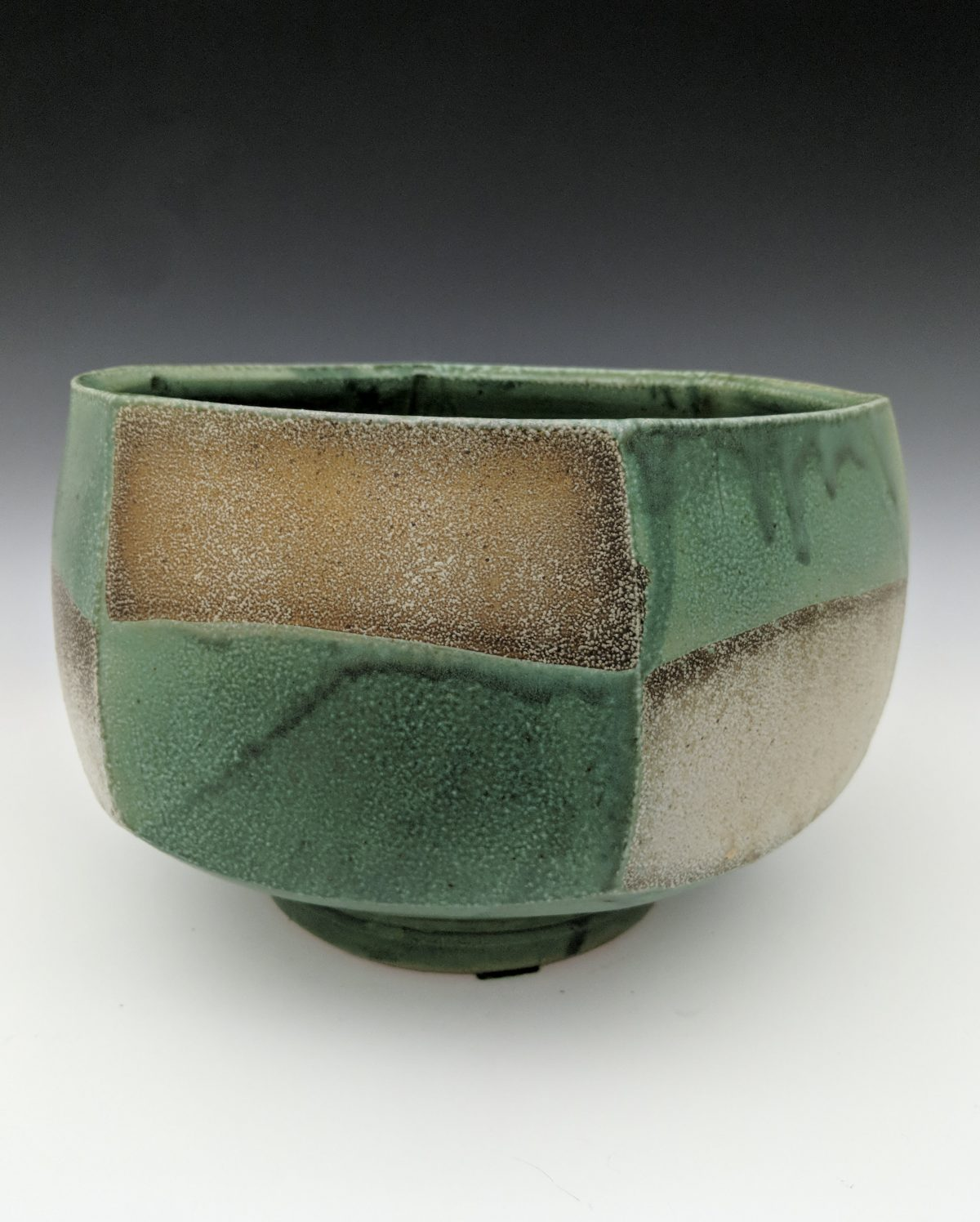 Jeff Oestreich - large bowl with geometric pattern
