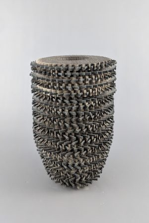 Rob Sieminski - tall double walled vessel with nails