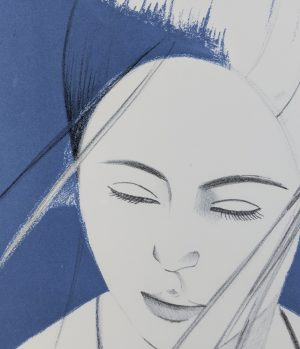 Alex Katz  - Pamela (Gray)