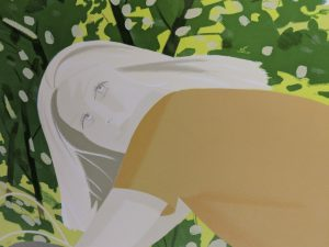 Alex Katz  - Bicyling in Central Park
