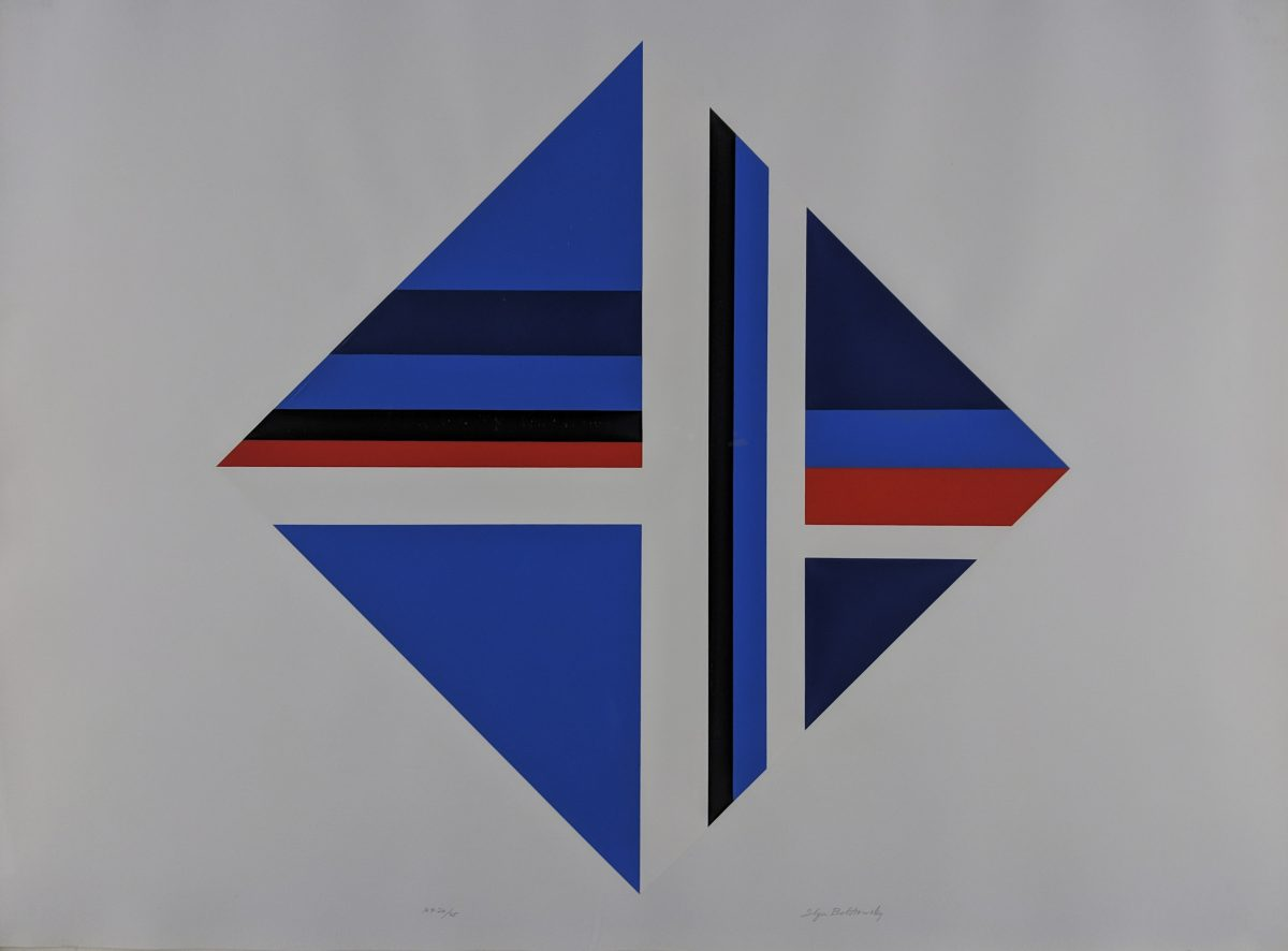 Ilya Bolotowsky - Red Blue Square