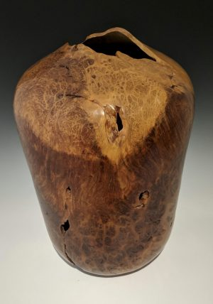 J Hansen - large redwood burl vase