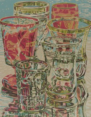 Janet Fish - still life with glasses
