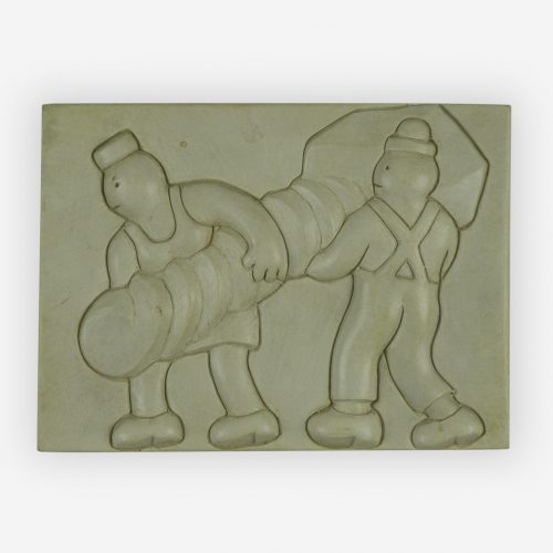 Tom Otterness - Two workers at a task