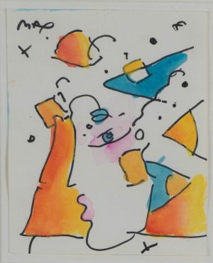 Peter Max  - Untitled (Profile in colors)