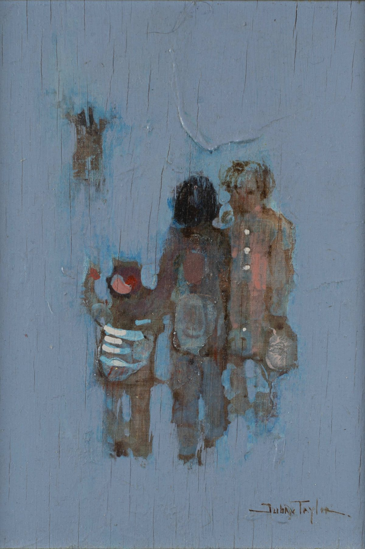 Julian Taylor - Children (Two paintings)
