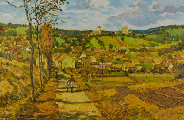 Malva  - Untitled (Mother and child on a village path)