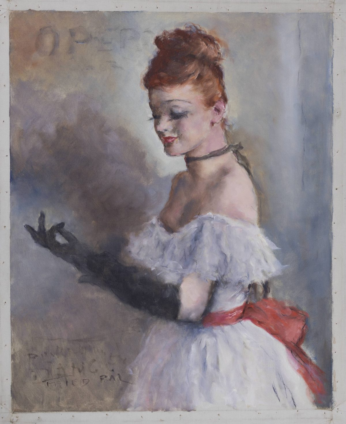Pál Fried - Untitled (Woman at the opera)