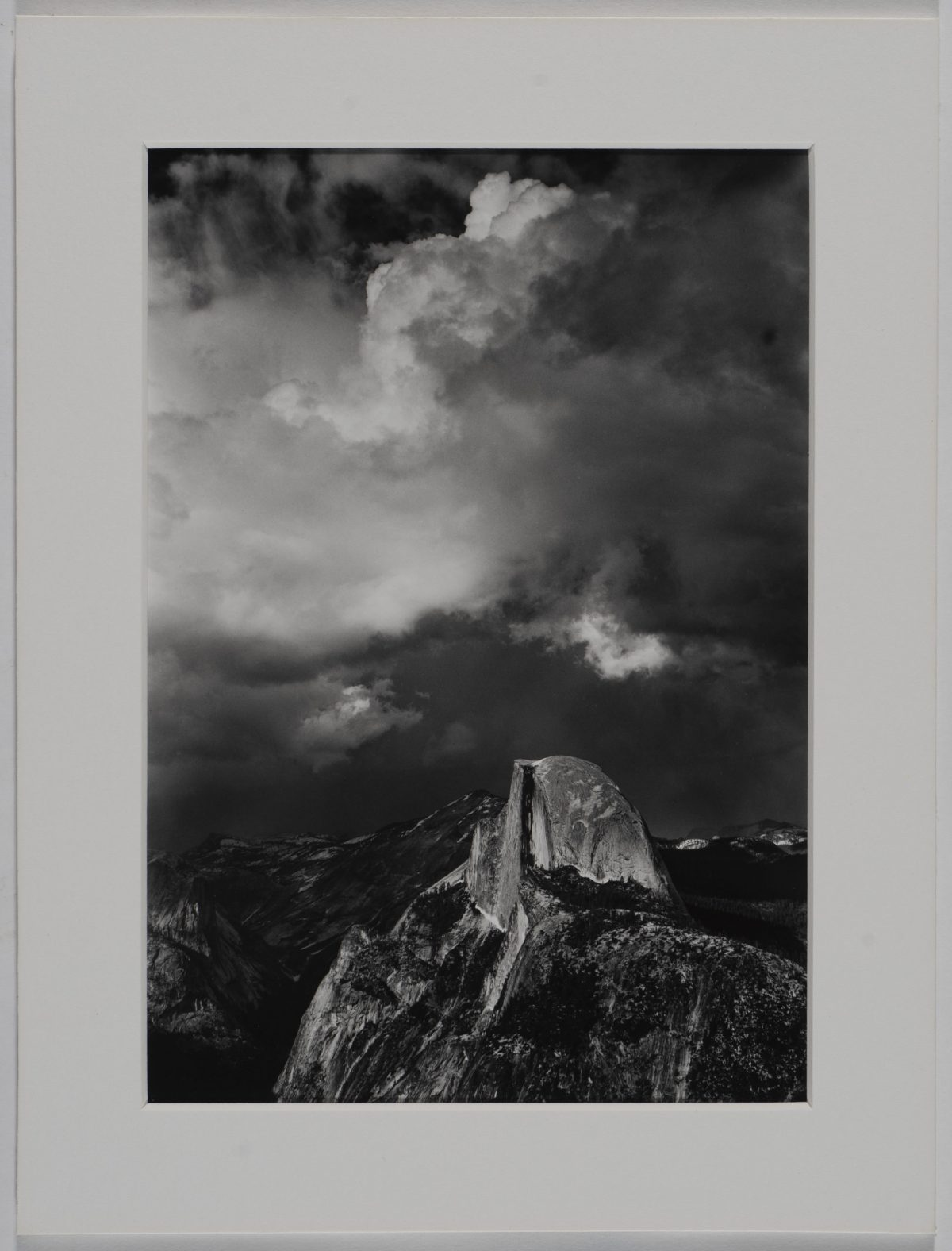 Ansel Adams  - Half Dome from Glacier Point, Thunderstrom