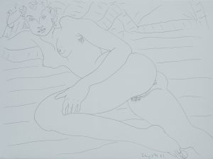 Ben Schonzeit - Untitled (Reclining Nude)