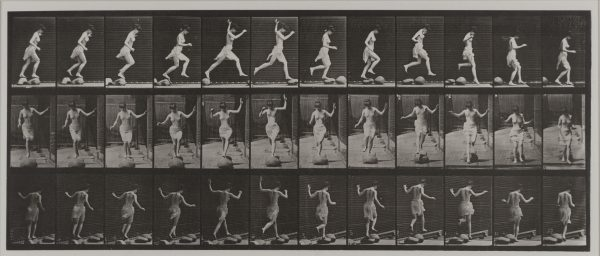 Eadweard Muybridge - Animal Locomotion: Plate 175 (Skipping Stones