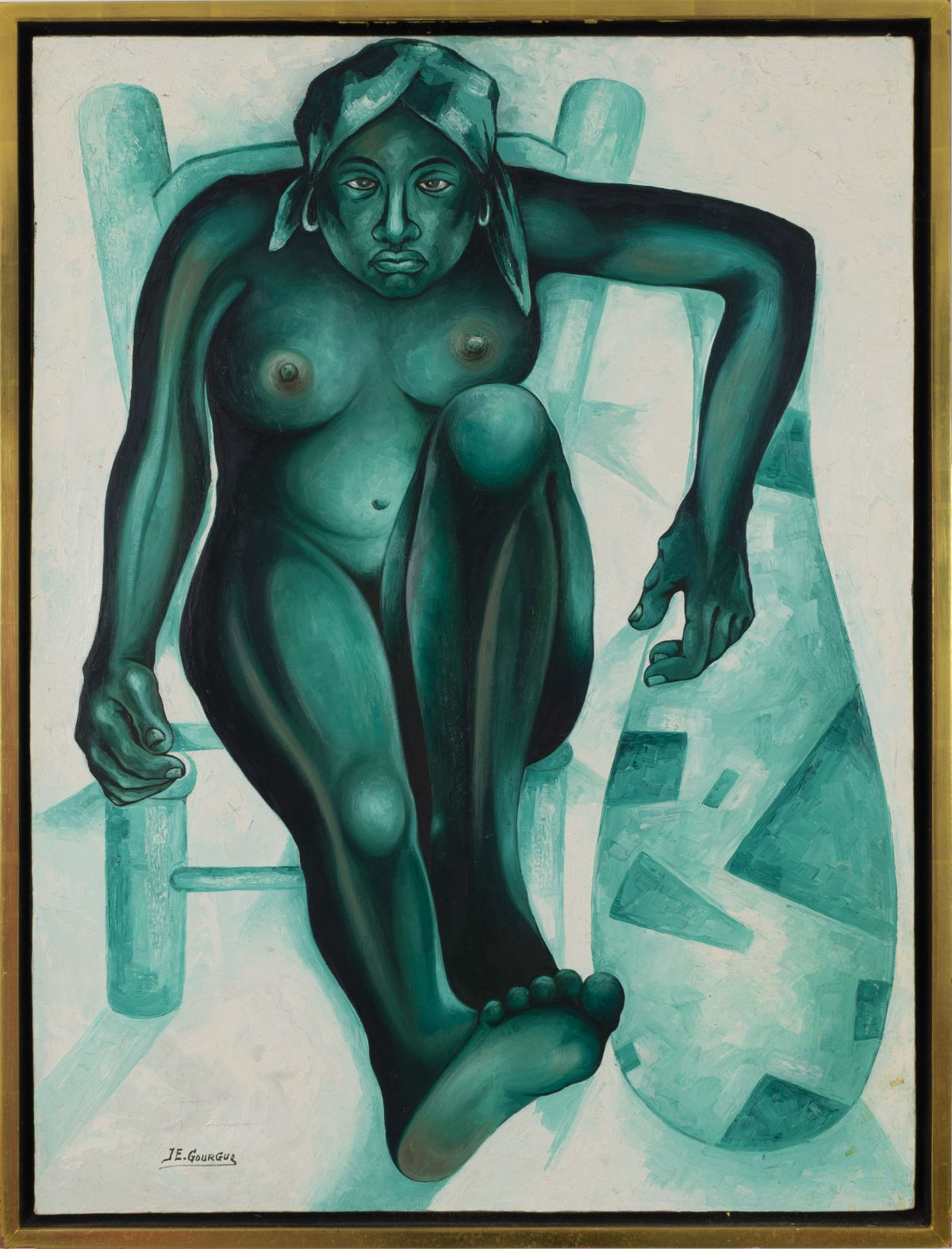Jacques-Enguerrand Gourgue - Untitled (Seated Nude)