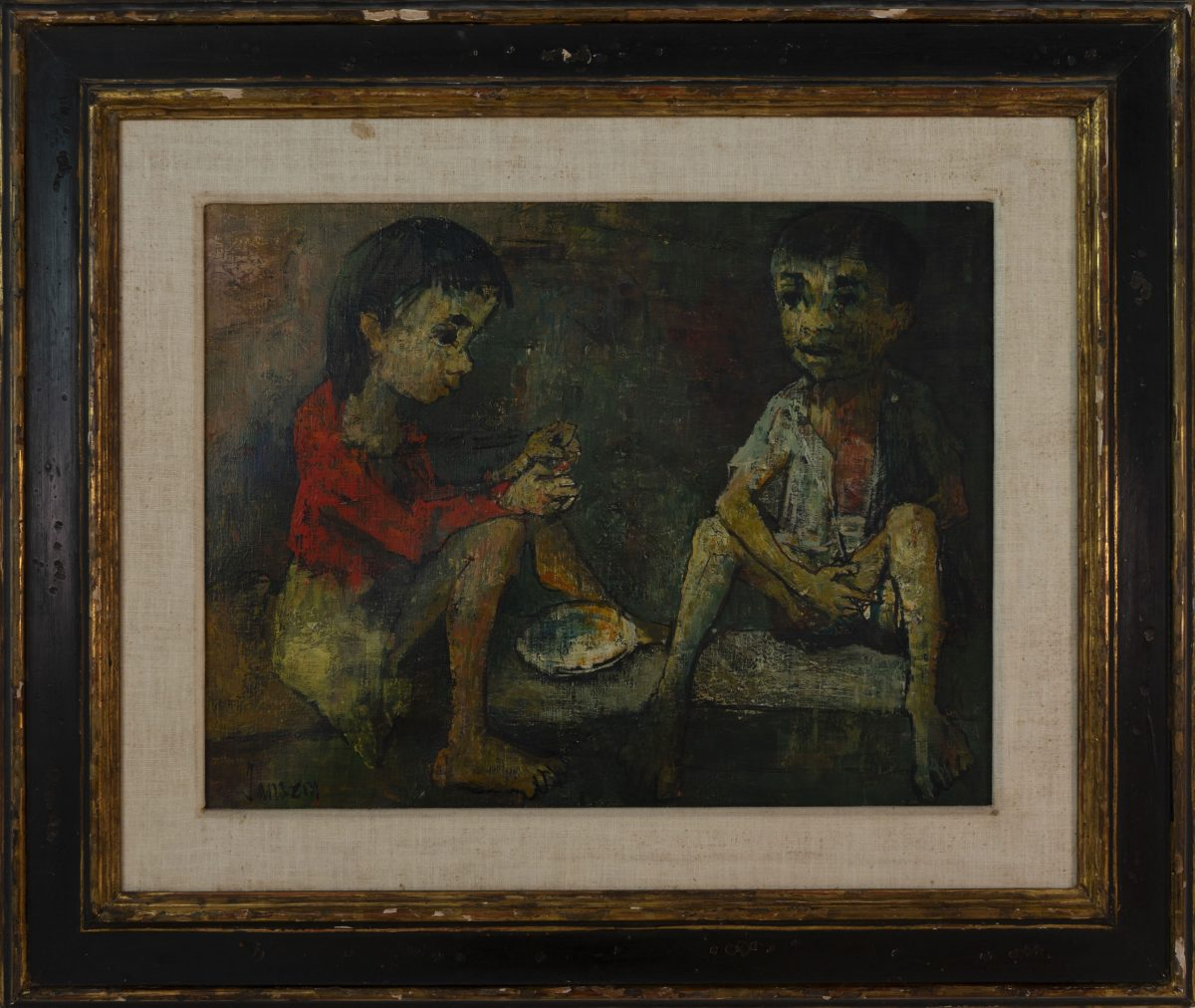 Jean Jansem - Two children