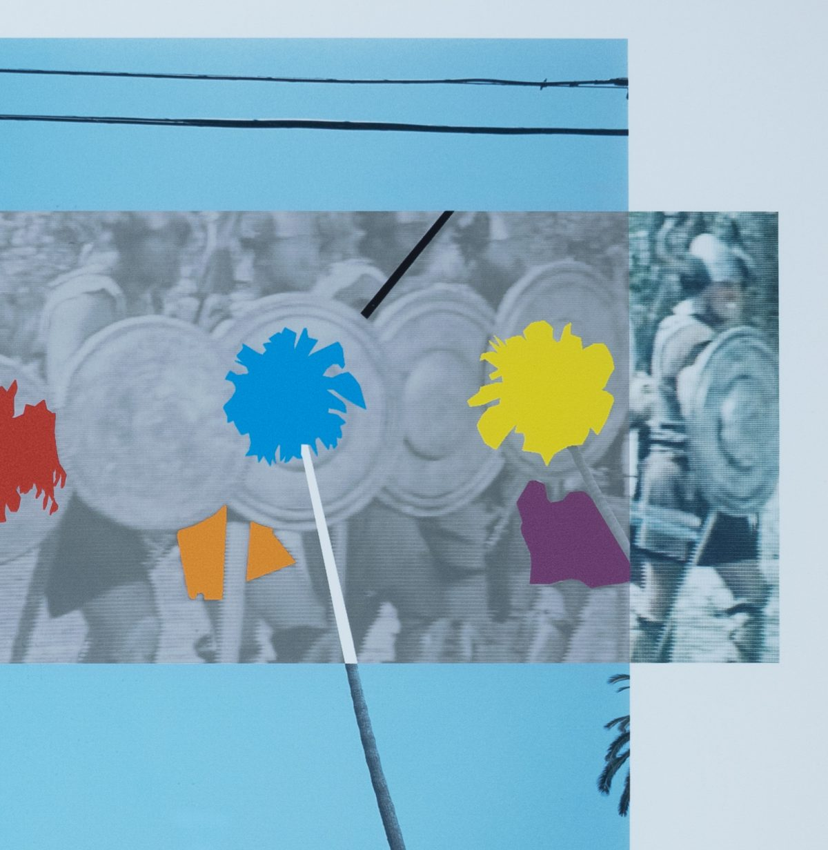 John Baldessari - Palm Trees and Building (from the Overlap Series)