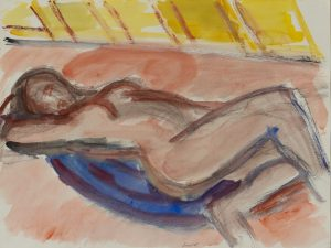 Michael Loew - Reclining Pink Nude