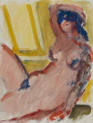 Michael Loew - Seated Pink Nude