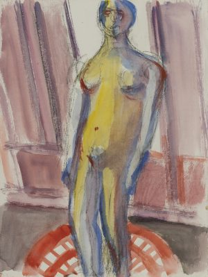 Michael Loew - Yellow & Blue Nude