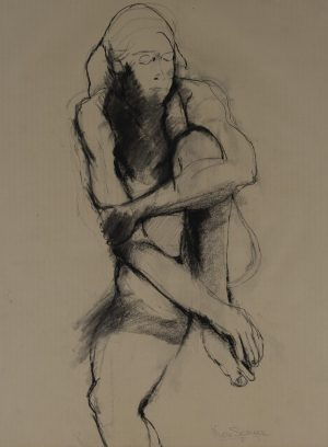 Nora Speyer - Untitled (Seated Nude)