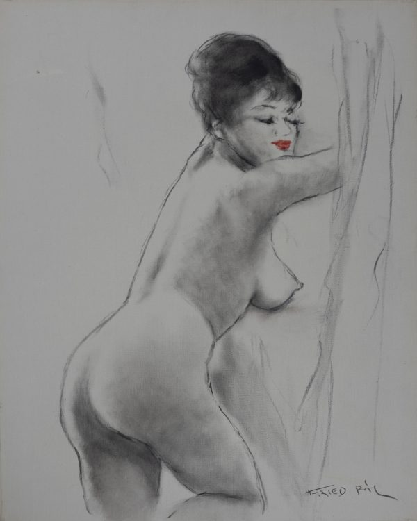 Pál Fried - Untitled (Nude, Black and White III)
