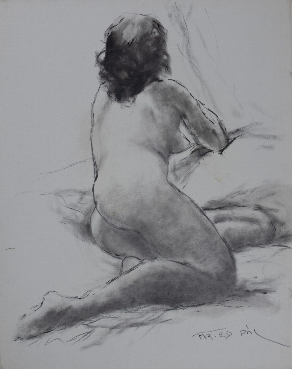 Pál Fried - Untitled (Nude, Black and White II)