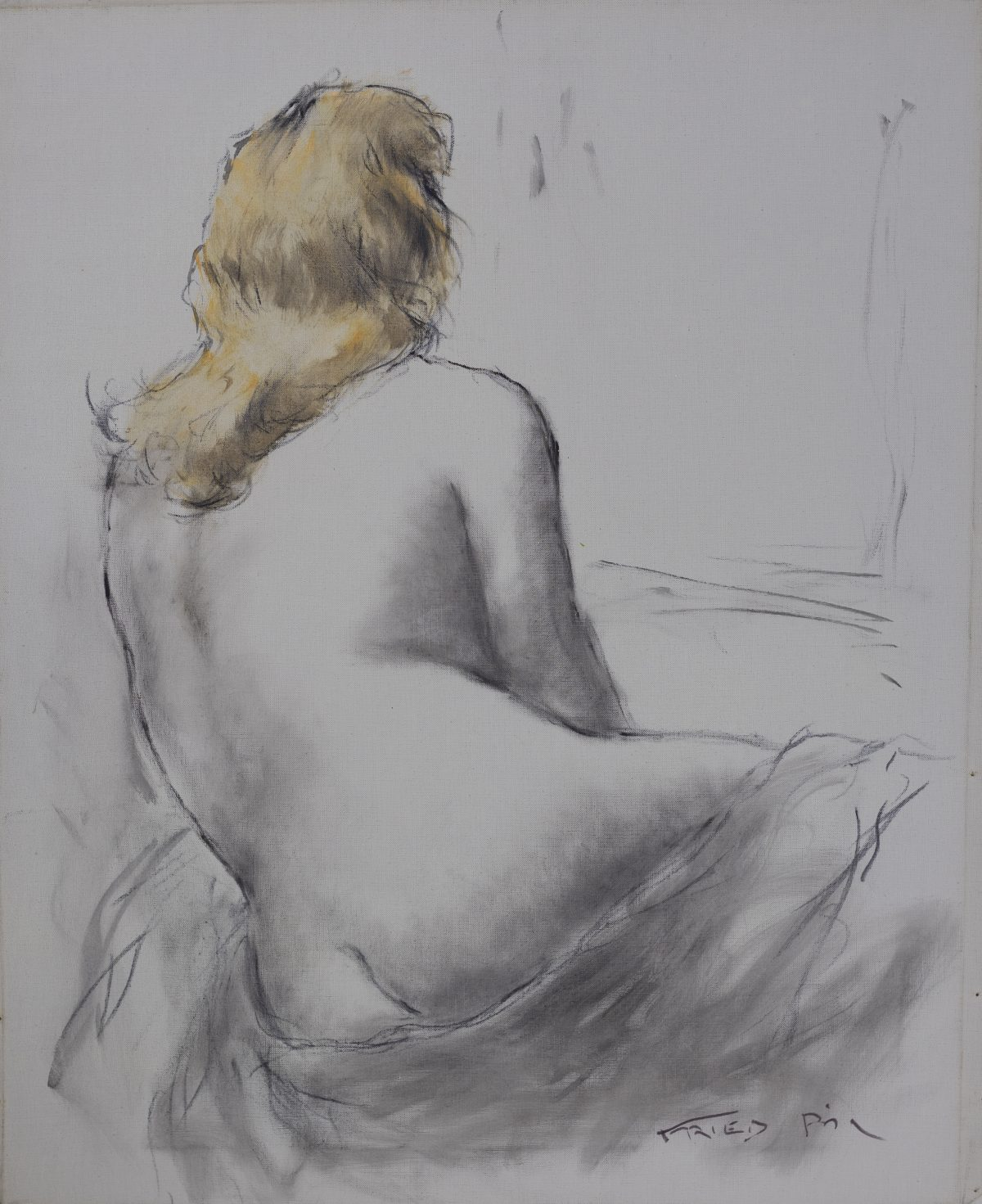 Pál Fried - Untitled (Nude, Black and White IV)