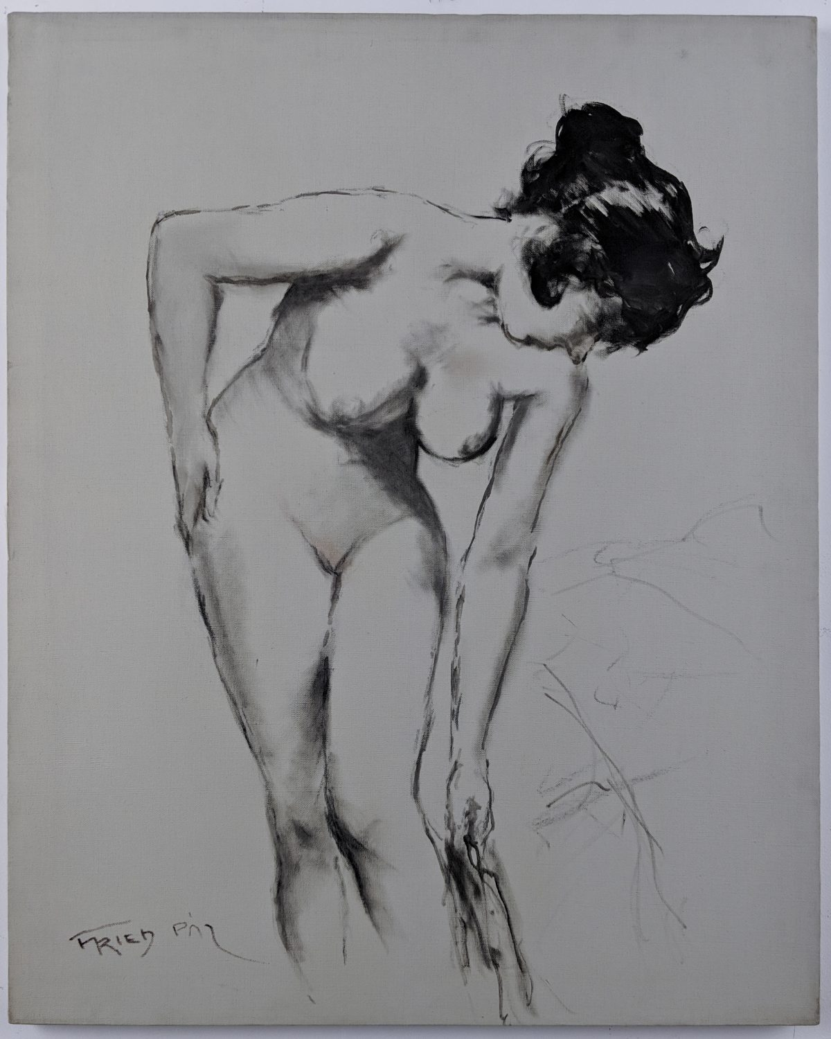 Pál Fried - Untitled (Nude, Black and White I)