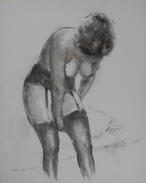 Pál Fried - Untitled (Nude, Black and White VII)