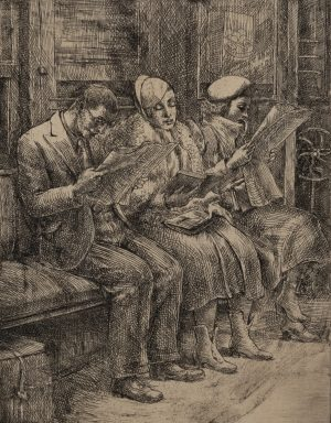 Reginald Marsh - On the I.R.T.