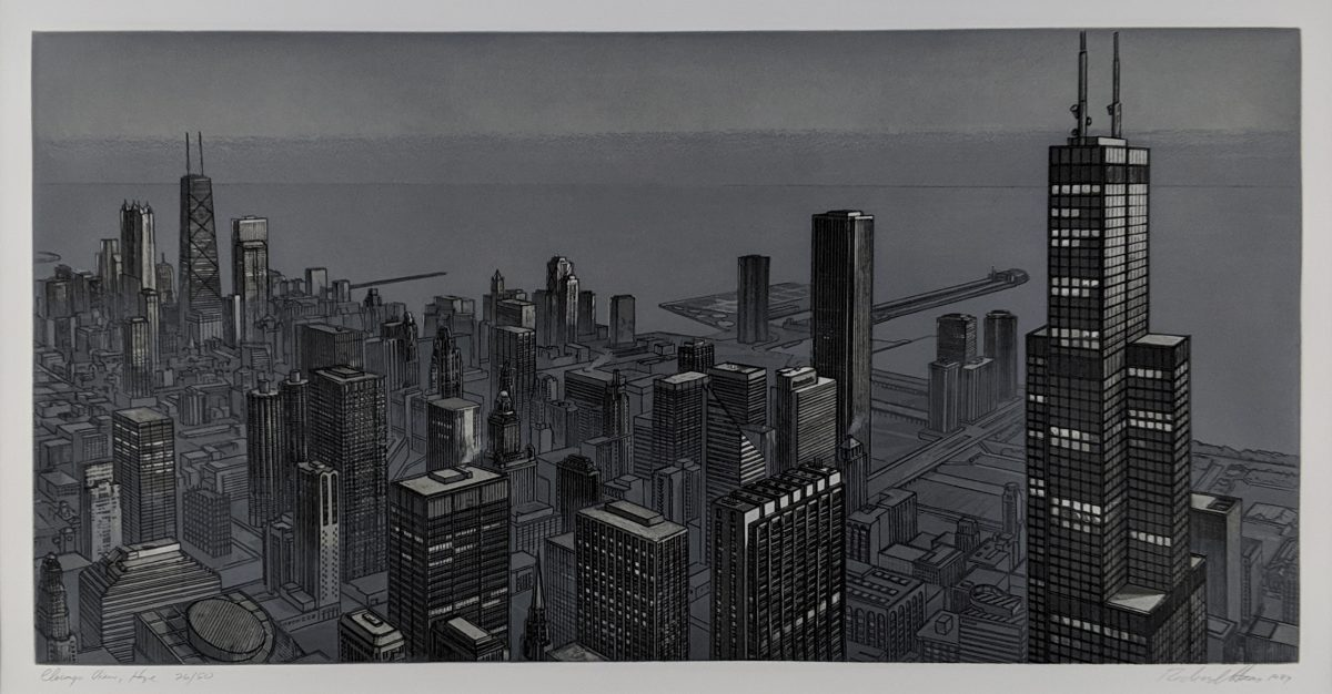 Richard Haas - Chicago View, Evening