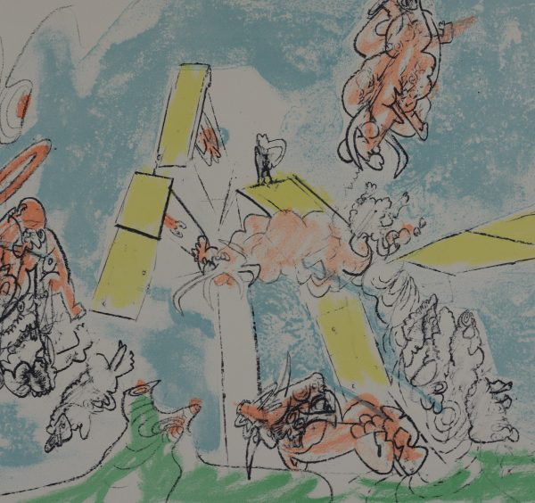 Roberto Matta - single sheet from Fog, Smog and Demagogue