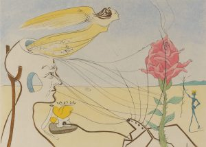 Salvador Dali - The Dream (La Rose)