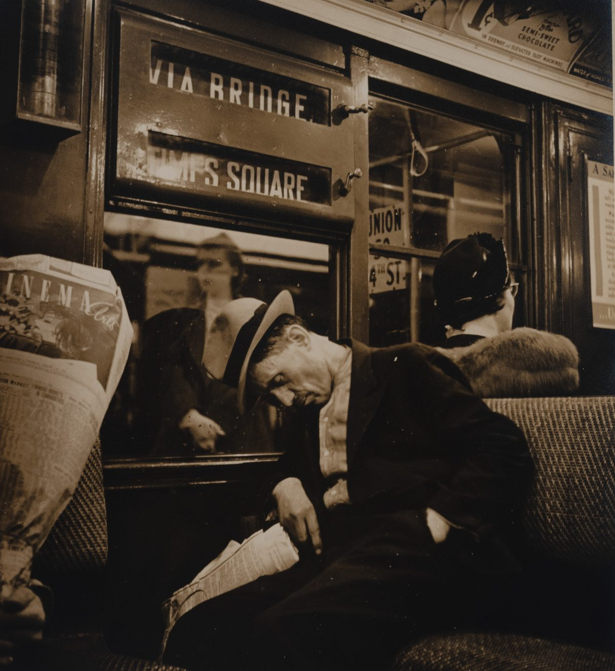 Sol Libsohn - Man Sleeping on Subway