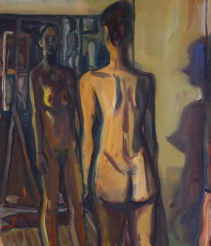 Steven Harvey - Standing Figure + Reflection (African Shadow)