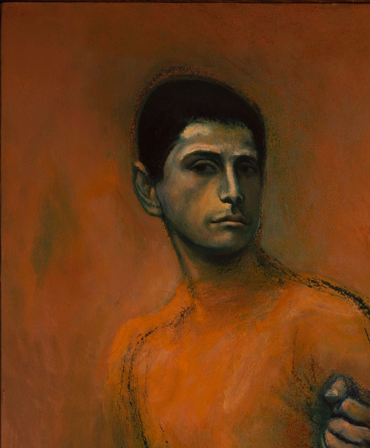Symeon Shimin  - Untitled (Portrait of a man)