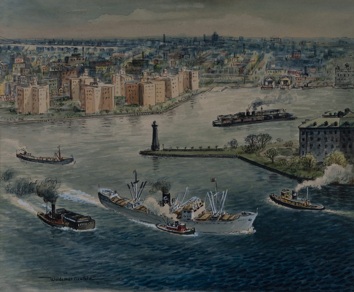 Woldemar Neufeld - Shipping on the East River