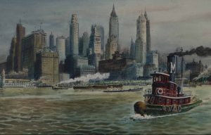 Woldemar Neufeld - Tugboat in New York Harbor